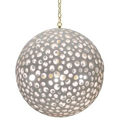 Oly Studio Annika Chandelier.  I'm envisioning this hanging above a rustic dining room table. maybe DIY from concrete and glass beads