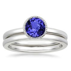 18K White Gold Sapphire Sierra Matched Set from Brilliant Earth