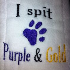 Burp Cloth. Hehe need one of these but with a Pirate instead of a paw print!