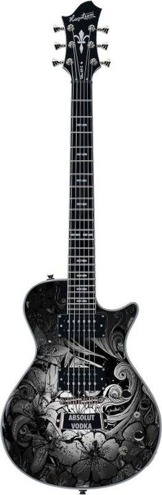 "Hagstrom guitar was specially designed by artist ""Nina Vollmer"" for Absolut Vodka´s ""Rock Edition"" campagn."