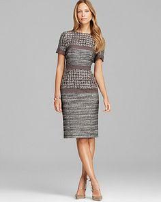 BASLER Short Sleeve Tweed Dress | Bloomingdale's