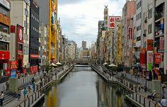 Dotonbori Taken from the famous bridge in Namba, Osaka.  I've seen this view many times!!