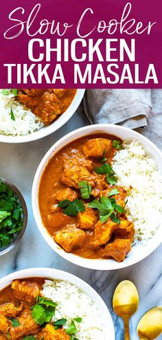 Slow Cooker Chicken Tikka Masala is a delicious healthy way to enjoy Indian cuisine and it cooks all day on low so you can enjoy a tasty curry after a long day without all the legwork! -The Girl on Bloor - Slow Cooker - Ideas of Slow Cooker Cooking Chef Gourmet, Cooking Recipes, Healthy Recipes, Tasty Slow Cooker Recipes, Indian Slow Cooker Recipes, Slow Cooker Dinners, Cooking Videos, Meal Recipes, Ketogenic Recipes