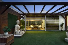 This Office with Terrace Garden is Brilliantly Design byAVG Architecture and Interiors AVG Architecture and Interiors has designed the new offices of steel manufacturing firmGulf Ispat Limitedlocated in Gurgaon, India outdoor space