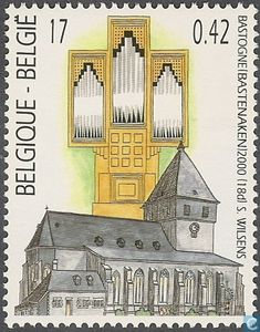 Postzegels - België [BEL] - Schumacher orgel en Sint-Pieterskerk in Bastenaken