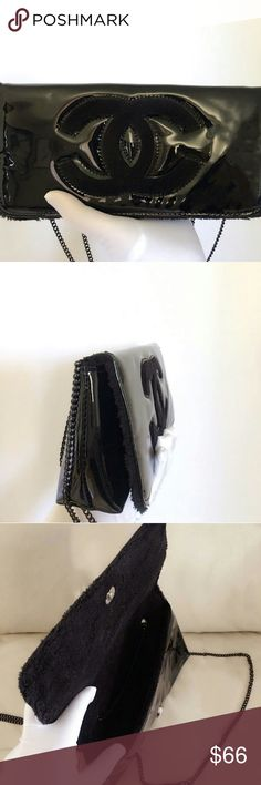 Chanel vip gift crossbody bag shoulder bag New Chanel vip gift crossbody bag shoulder bag New Black Faux leather, measures. L 10 x H 5 x D 2. This is a vip gift. Vip gift does not come with any serial number/card. It was giving out in Asia only. CHANEL Bags Crossbody Bags