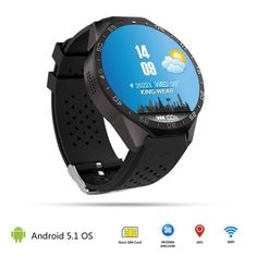 137.02$  Buy here - http://aligru.worldwells.pw/go.php?t=32787904531 - Rwatch KW88 Smart Bluetooth Watch Smartwatch with LED Display Music Player Health Wrist Bracelet Heart Rate Monitor GPS For IOS