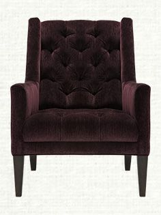 Ida Tufted Upholstered Chair In Vangogh Amethyst....maybe I just love this because it's my birthstone.....its a gorgeous purple!!!