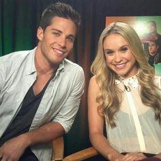 Dean Geyer and Becca Tobin aka newbies Brody Weston & Head Cheerio Kitty Wilde, Glee Season Four