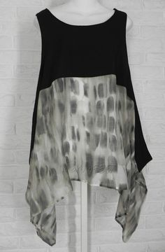 COMFY USA Lagenlook Giselle Topper Abstract Print Tunic Shirt NWT Ladies S M L #ComfyUSA #Tunic #Casual