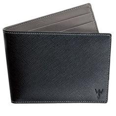 Wurkin RFID Blocking Black/Grey Wallet with Outside Card Pocket