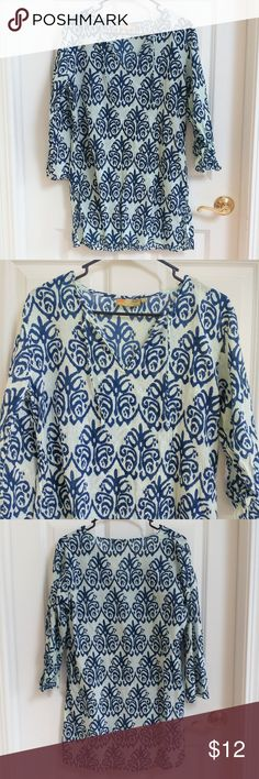 50bc0fed56d Anthropologie Francesca s blue white french diagonal striped cover up dress  M  AnthropologieFrancescas  coverupdress  casual