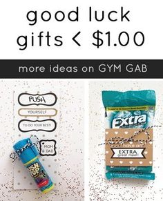 Good Luck gifts for Athletes - DIY for a dollar or less! Good Luck gifts for Athletes - DIY for a dollar or less! Cheer Camp, Cheer Coaches, Cheerleading Gifts, Cheer Dance, Gymnastics Gifts, Volleyball Gifts, Cheerleader Gift, Gymnastics Stuff, Dance Camp