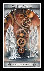 X The Wheel of Fortune, Watcher Angel tarot deck