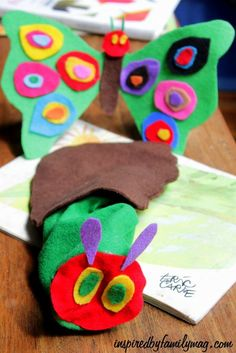 The Hungry Caterpillar Activities, crafts and fun -  I loved how simple they were to make!