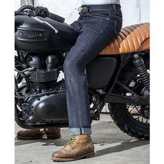 Resurgence Cafe Racer jeans straight leg in blue Motorcycle Jeans, Physique, Leather Pants, Trousers, Legs, Blue, Stuff To Buy, Clothes, Fashion