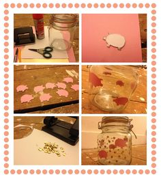 DIY- piggy bank jar