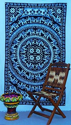 Room Tapestry, Mandala Tapestry, Tapestries, Wall Sheets, Bed Sheets, White Elephant, Bedspreads, How To Make Bed, Hippy