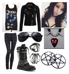 """""""Untitled #103"""" by kristykilling ❤ liked on Polyvore featuring Hudson Jeans, Demonia, Superdry, Kill Star and Gathering Eye"""