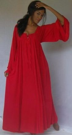 DESIGNER RED DRESS LACING MOROCCAN ART TO WEAR FITS - L XL 1X 2X - W618S - NEW ARRIVAL