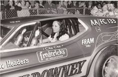 Shirley Muldowney Funny Car...Frederick's of Hollywood sponsor?  All the lingerie Shirley needed :)