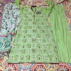 Pakistani indian embroidery shalwar kame Indian Embroidery, Pakistani Dresses, Stylish Dresses, Blouse, Tops, Women, Fashion, Blouse Band, Moda