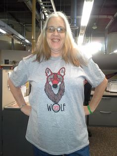 Red wolf shirts! Get them while they're hot! Help red wolf recovery efforts by buying this beautiful shirt, modeled by our Southeast Regional Director, and designed by the Red Wolf Coalition's Chris Crowe. Click here to get yours! Back for a limited time!  https://www.bonfirefunds.com/national-wolfwatchers-fund