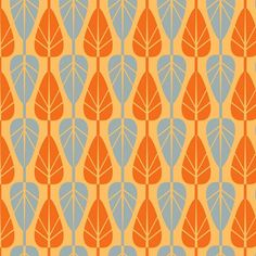 Anthology Fabric - Mod Charm Collection leaf #pattern