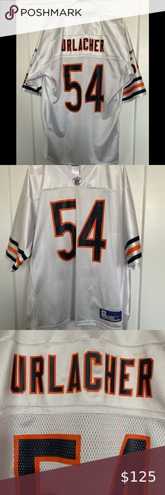 Nike Men/'s Chicago Bears #54 Brian Urlacher Jersey SEWN NWT