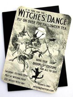 Witches Dance Invitation, www.LoraleeLewis.com