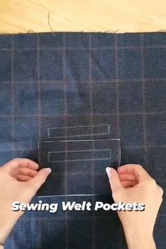 Diy Sewing Projects, Sewing Projects For Beginners, Sewing Hacks, Sewing Tutorials, Pattern Drafting Tutorials, Sewing Machine Basics, Sewing Basics, Formation Couture, Sewing Pockets