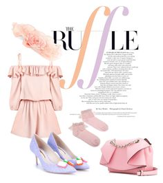 """""""Ruffles Get Candy coated"""" by pinkdivacutie ❤ liked on Polyvore featuring Emanuel Ungaro, Sophia Webster and ruffles"""