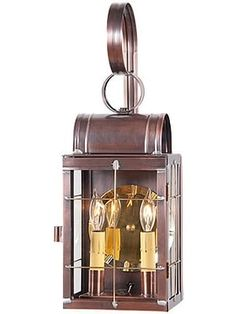 Toll House 2 Light Suspended Wall Lantern In Antique Copper or Brass | House of Antique Hardware