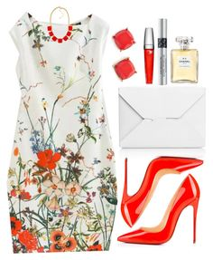 """""""Untitled #3353"""" by natalyasidunova ❤ liked on Polyvore featuring J.W. Anderson, Christian Louboutin, BP., Lancôme, Christian Dior and Chanel"""