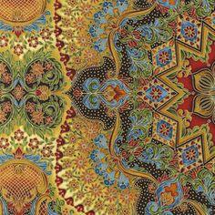 R Kaufman Toole Florentine Duomo Ceiling Earth - gorgeous fabric