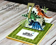 Chlo's Craft Closet - Stampin' Up! Independent Demonstrator: Just Add Ink Blog Hop #343 - No Bones about It Pop-up Card