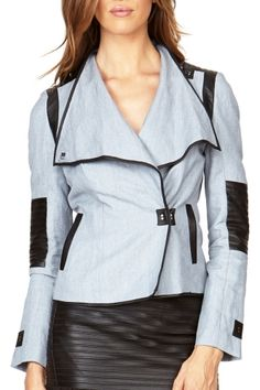 Accent any outfit with the Mystic Tencel Jacket to Rockin Robin, Red High Heels, Line Shopping, Fall Fashions, Blue Denim, Mystic, Autumn Fashion, Leather Jacket, Coats
