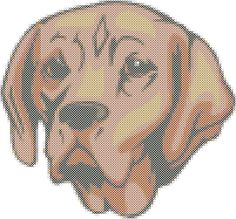 Portuguese Pointer Dog Breed Cross Stitch Pattern Tutorial Graph Instant download by AmericanPooch on Etsy
