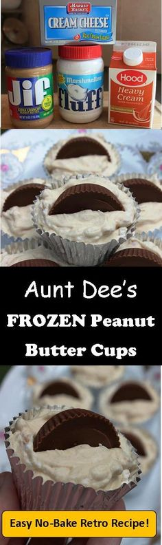 NO-BAKE FROZEN PEANUT BUTTER CUPS:  These retro cups are a big hit with adults and kids alike.  The perfect cool treat for summer parties or all year long!