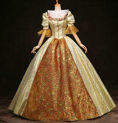 Cheap  100% foto reali di lusso carnevale di venezia abito d'oro floreale regina medievale regina rinascimentale abito vittoriano abito belle sfera  , Compro Qualità Abbigliamento direttamente da fornitori della Cina:  Womens size      1-3 cm indennità