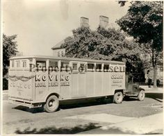 """1930 photograph of a moving truck: """"Craig's Moving Local & Long Distance"""" taken in Urbana, OH  (The Champaign County Historical Museum)"""