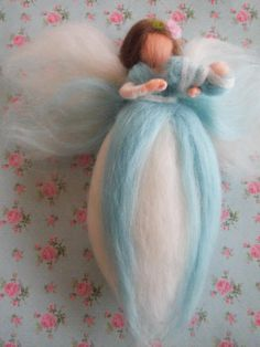 Handmade Needle Felted Fairy/Angel Newborn Baby by WispsandWands, €15.00