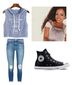 """liza koshy likes my outfit (lol)"" by dawnielle-heath ❤ liked on Polyvore featuring J Brand and Converse"