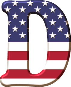 Alfabeto con la Bandera de USA Alphabet Letters Design, Monogram Alphabet, Alphabet And Numbers, Letter Art, Alphabet Print, Alphabet Soup, Scrapbook Letters, Banner Letters, Lettering Design