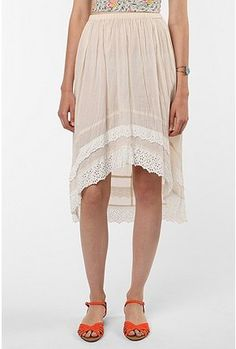 Pins and Needles Eyelet-Trimmed High/Low Skirt $59.00