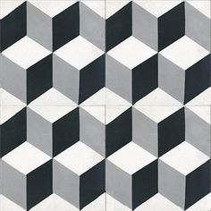 Baldosas hidráulicas,Encaustic Andalusian cement tiles for both the floor and wall Geométrico, Tumbling Blocks, Encaustic Tile, Look Vintage, Tile Art, Tile Patterns, Tile Design, Home Improvement, Flooring, Cement Tiles