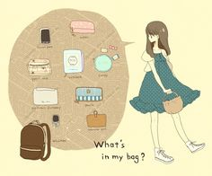 What's in my bag anime Aesthetic Art, Aesthetic Anime, What's In My Backpack, School Survival Kits, Drawing Bag, Kawaii Bags, What In My Bag, Meet The Artist, Cute Doodles