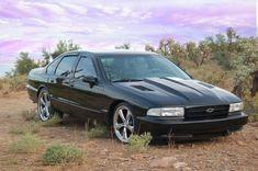 94 Chevy Impala SS with Z34 louvered hood-http://mrimpalasautoparts.com