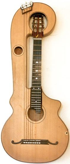 Early Musical Instruments, antique Harp Guitar by Mozzani