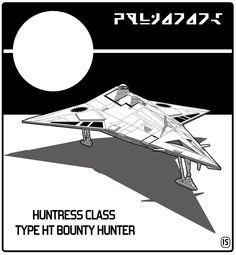 Traveller: Huntress Class TYPE HT Bounty Hunter by biomass.deviantart.com on @deviantART
